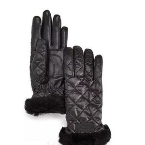 UGG® Quilted Shearling-Cuff Tech Gloves